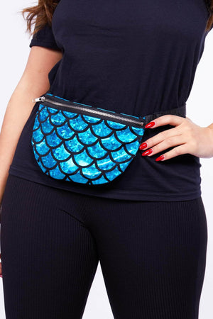 Metallic Turquoise Mermaid Bum Bag