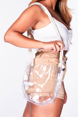 Perspex Bucket Bag with Rope Strap
