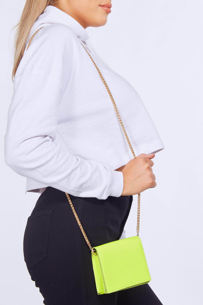 Neon Lime Green Mirco Mini Bag