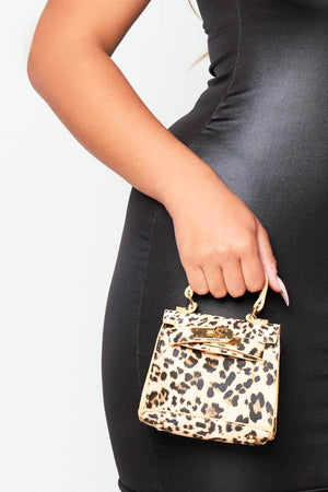 Leopard Print Micro Mini Bag