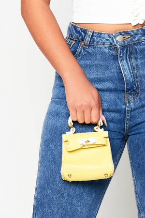 Neon Yellow Micro Mini Bag