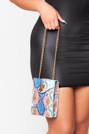Mermaid Snake Rectangle Crossbody Bag