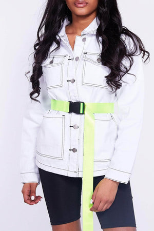 Neon Green Seatbelt Belt