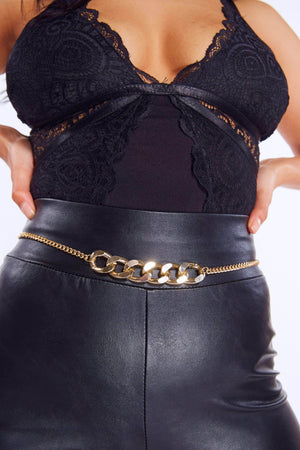 Gold Chunky Chain Waist Belt