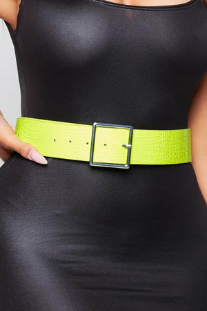Lime Green Croc Belt