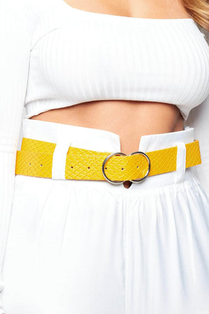 Orange Snake Double Circle Belt