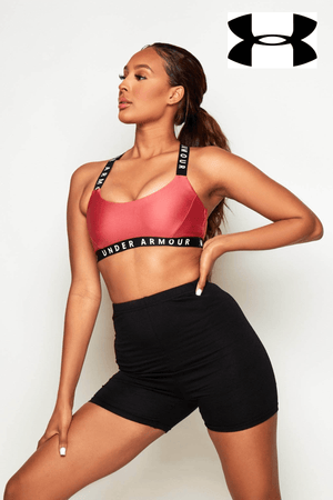 Under Armour Rose Contrast Racer Back Sports Bra