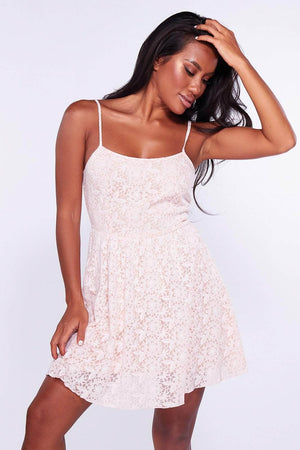 Peach Floral Day Dress