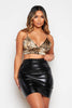Snake Satin V Neck Bralet