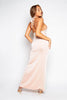 Nude Slinky Halterneck Maxi Dress