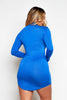 Cobalt Jersey Basic Long Sleeve Dress