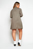 Khaki Green Jersey Smock Dress