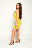 Yellow Contrast Disc Sequin Mini Cami Dress