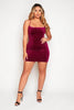 Plum Velvet Midi Cami Dress