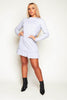 Grey Jersey T.Shirt Dress with Ruffle Hem