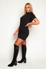 Black Jersey Midi T.Shirt Dress