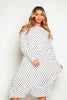 White Polkadot Oversize Smock Dress
