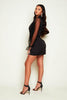 Black Blazer Dress with Organza Sleeves