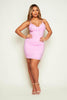 Lilac Lace Bustier Mini Bodycon Dress