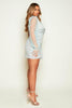 Sage Blazer Dress with Organza Sleeves