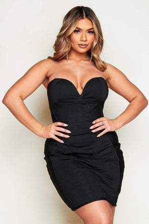 Black Bandage Bandeau Mini Dress