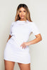 White Ribbed T.Shirt Dress