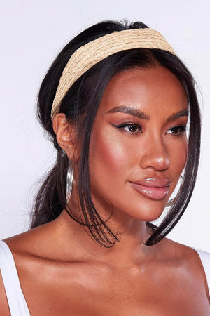 Braided Straw Headband
