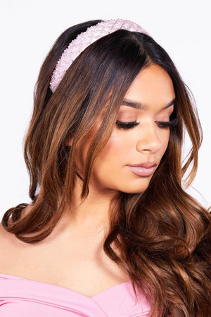 Pink Diamante Embellished Headband