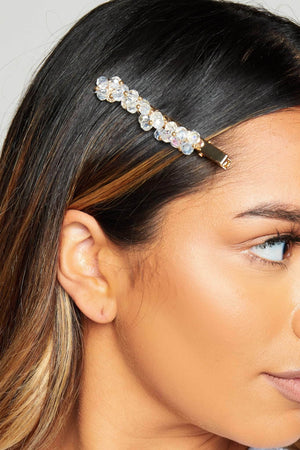 Clear Twist Beaded Hair Slide