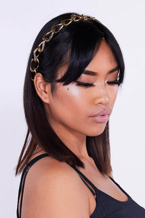 Gold Chain Link Headband