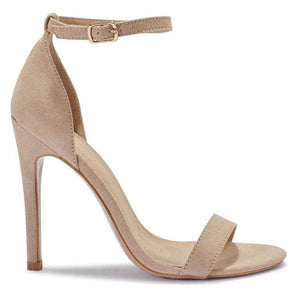 Nude Barely There Pu Stiletto Heels