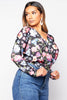 Floral Wrap Long Sleeve Bodysuit