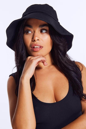 Black Canvas Bucket Hat