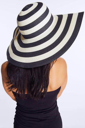 Mono Stripe Straw Sun Hat