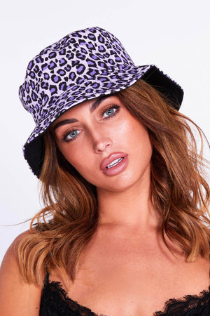 Purple Leopard Bucket Hat
