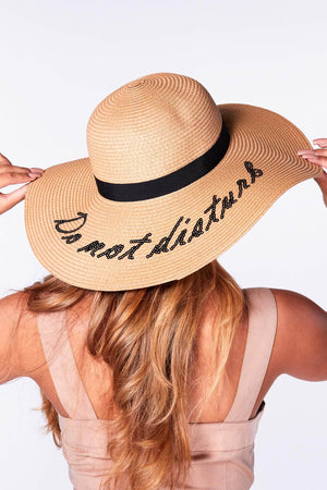 Cream Do Not Disturb Straw Hat
