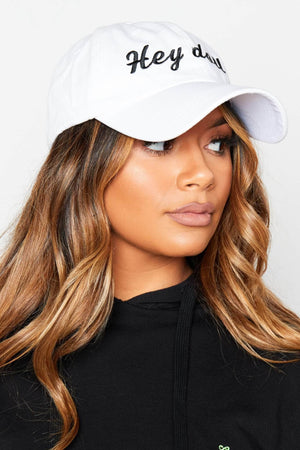 White Hey Doll Baseball Cap