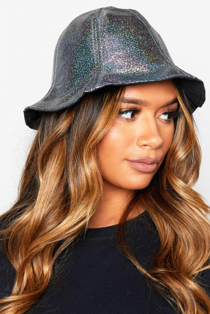 Silver Shimmer Cloche Hat