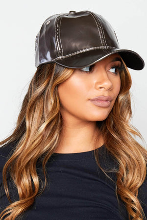 Silver Metallic Satin Baseball Cap