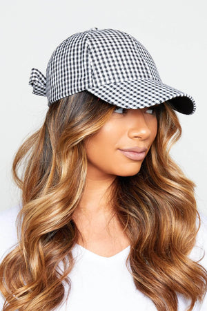 Black & White Checked Hat