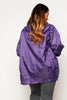 Purple Waterproof Rain Zip Up Jacket