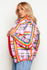 Multicolour Squares & Stripes Puffer Jacket