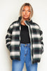 Green Checked Wool Puffer Jacket