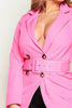 Hot Pink Belted Blazer Dress