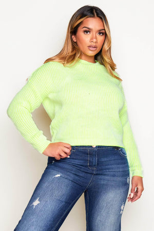 Neon Green Chunky Knit Jumper