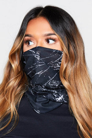 Black Printed Fabric 10 Ways to Wear Mask
