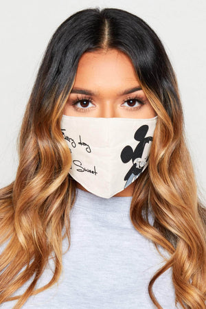 Nude Mickey Mouse Printed Fabric Face Mask