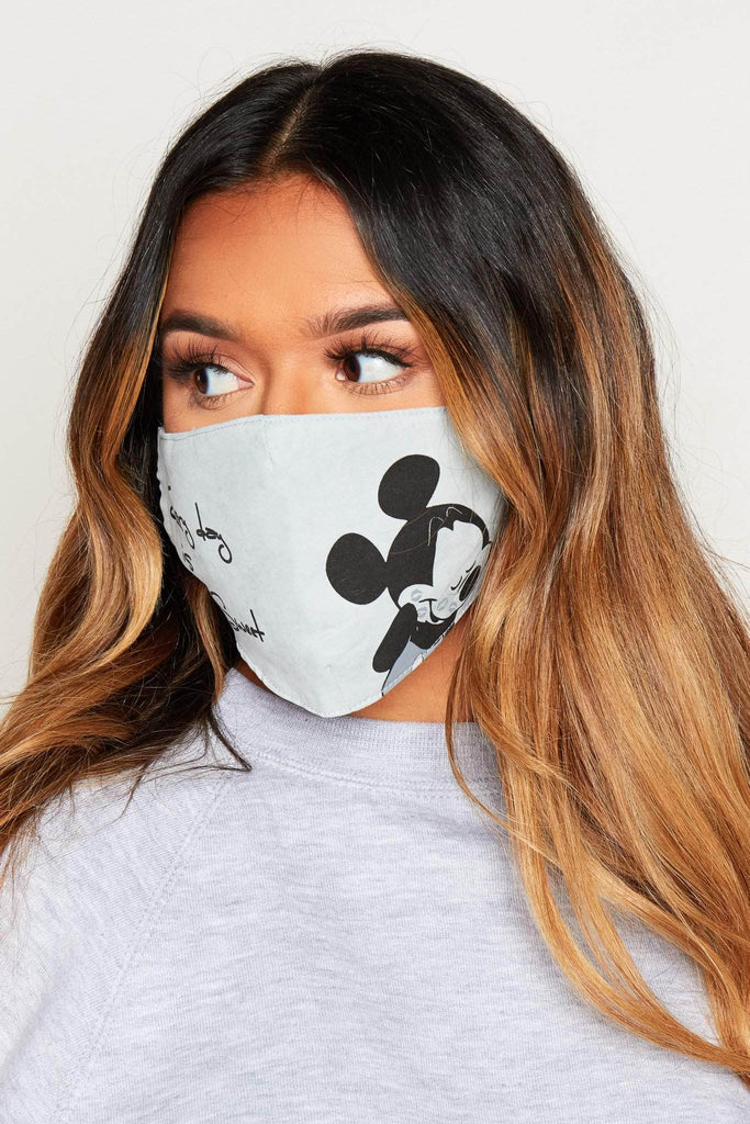 Sage Slogan Printed Fabric Face Mask