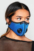 Blue Reusable Respirator Face Mask
