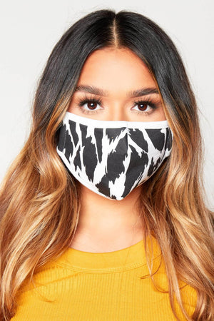 Black & White Cotton Reusable Cloth Face Mask